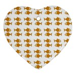 Small Fish Water Orange Ornament (Heart) Front