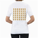 Small Fish Water Orange Women s T-Shirt (White) (Two Sided) Back