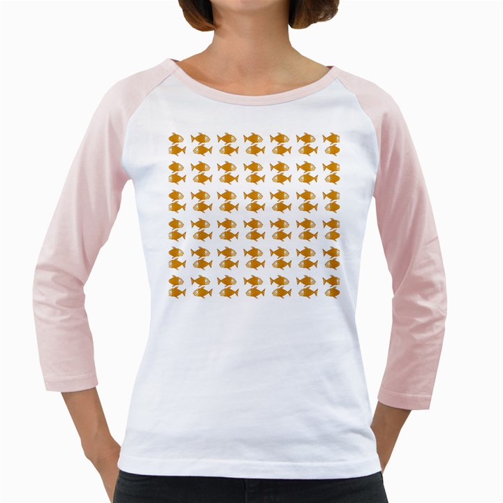Small Fish Water Orange Girly Raglan