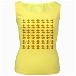 Small Fish Water Orange Women s Yellow Tank Top Front