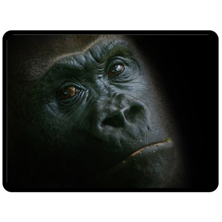 Gorilla Monkey Zoo Animal Fleece Blanket (Large)