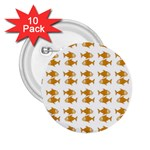 Small Fish Water Orange 2.25  Buttons (10 pack)  Front