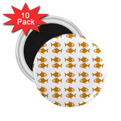 Small Fish Water Orange 2 25  Magnets (10 Pack)