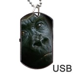 Gorilla Monkey Zoo Animal Dog Tag USB Flash (One Side) Front