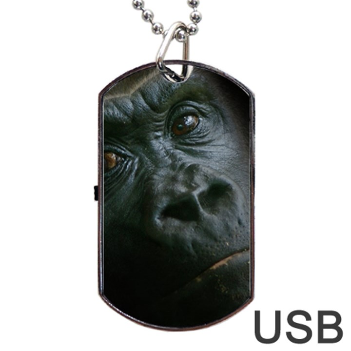 Gorilla Monkey Zoo Animal Dog Tag USB Flash (One Side)