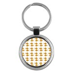 Small Fish Water Orange Key Chains (Round)  Front