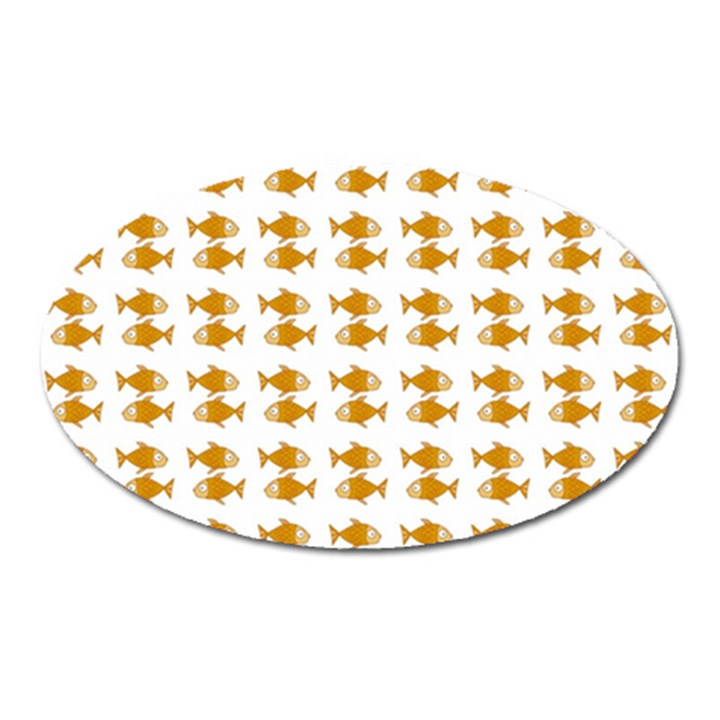 Small Fish Water Orange Oval Magnet
