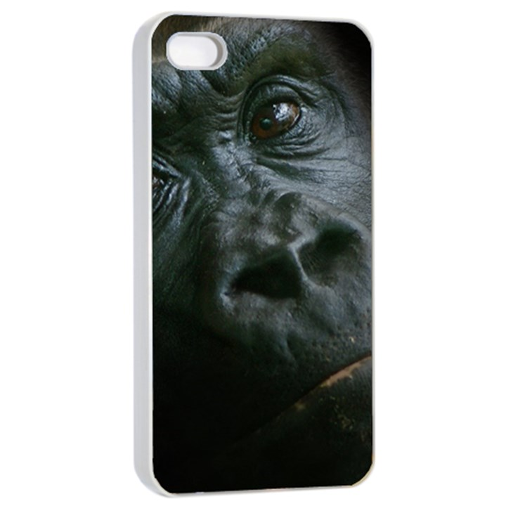 Gorilla Monkey Zoo Animal Apple iPhone 4/4s Seamless Case (White)