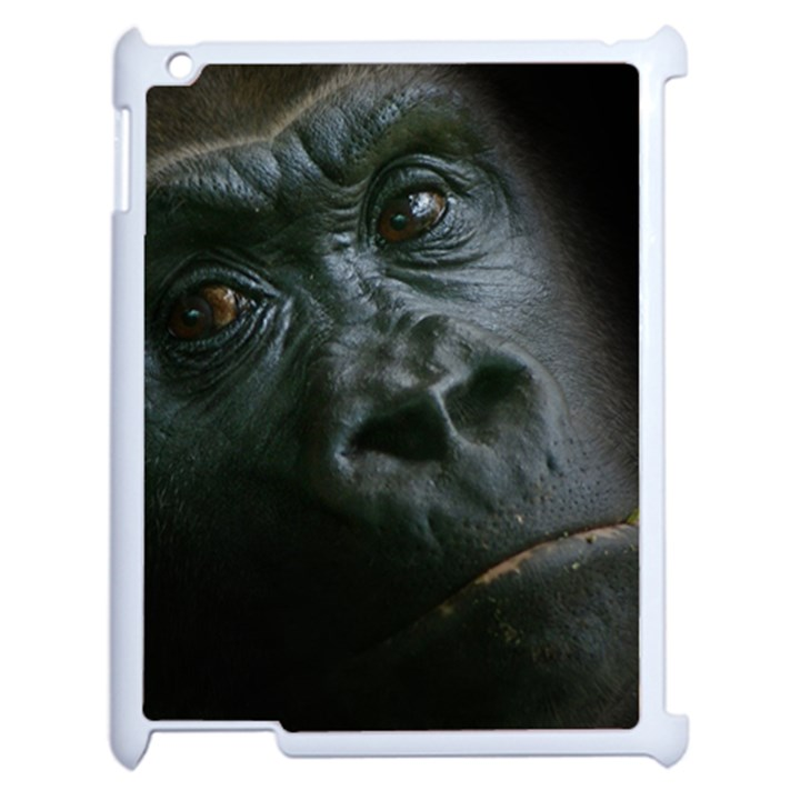 Gorilla Monkey Zoo Animal Apple iPad 2 Case (White)