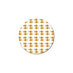 Small Fish Water Orange Golf Ball Marker