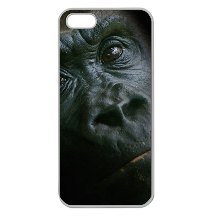 Gorilla Monkey Zoo Animal Apple Seamless iPhone 5 Case (Clear)