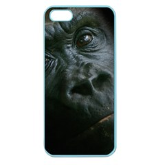 Gorilla Monkey Zoo Animal Apple Seamless Iphone 5 Case (color) by Nexatart