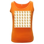 Small Fish Water Orange Women s Dark Tank Top Front
