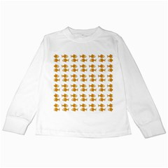 Small Fish Water Orange Kids Long Sleeve T Shirts