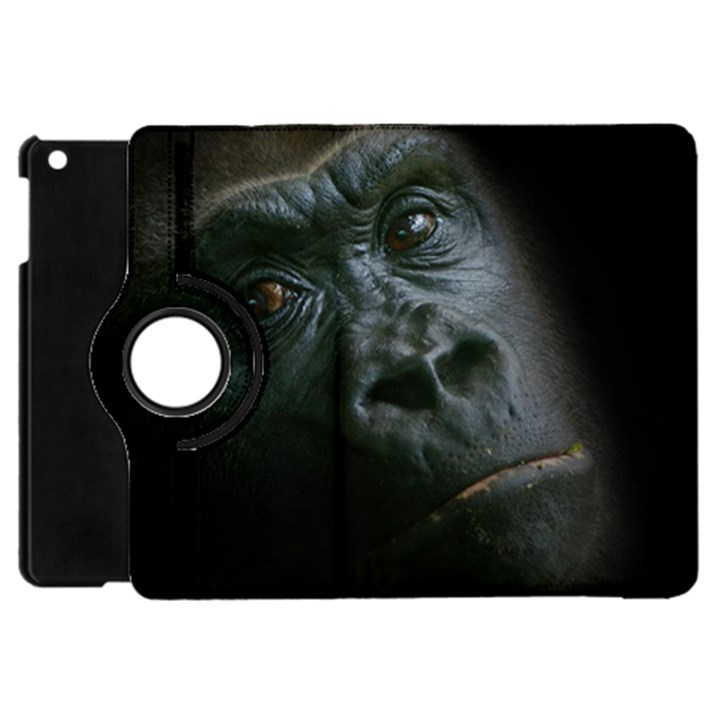 Gorilla Monkey Zoo Animal Apple iPad Mini Flip 360 Case