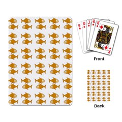 Small Fish Water Orange Playing Cards Single Design