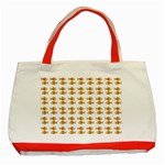 Small Fish Water Orange Classic Tote Bag (Red) Front