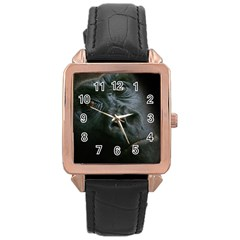 Gorilla Monkey Zoo Animal Rose Gold Leather Watch