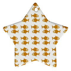 Small Fish Water Orange Star Ornament (two Sides)