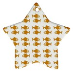 Small Fish Water Orange Star Ornament (Two Sides) Back