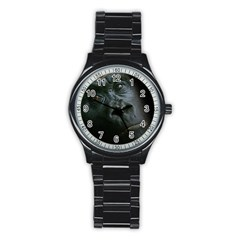 Gorilla Monkey Zoo Animal Stainless Steel Round Watch