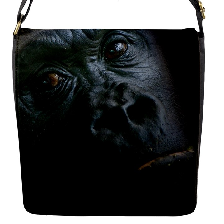 Gorilla Monkey Zoo Animal Flap Closure Messenger Bag (S)