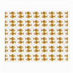 Small Fish Water Orange Small Glasses Cloth (2-Side) Back