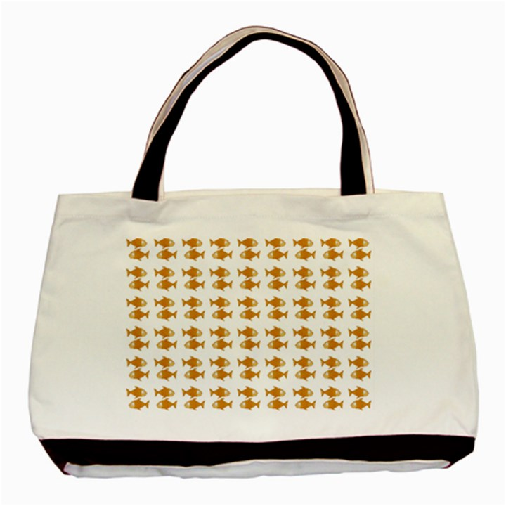 Small Fish Water Orange Basic Tote Bag (Two Sides)