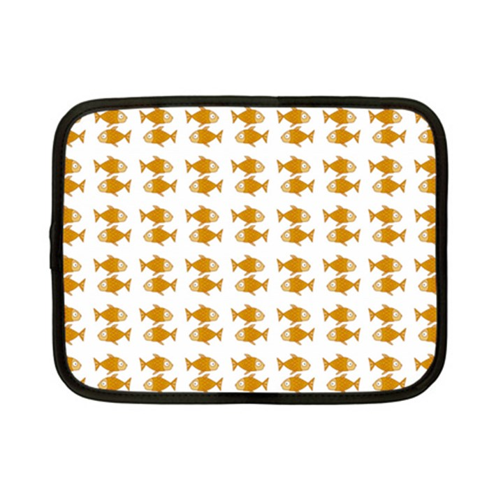 Small Fish Water Orange Netbook Case (Small)
