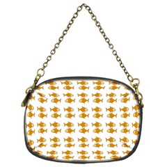 Small Fish Water Orange Chain Purse (one Side)