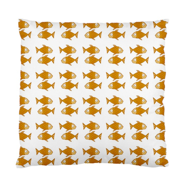 Small Fish Water Orange Standard Cushion Case (Two Sides)
