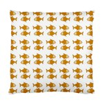 Small Fish Water Orange Standard Cushion Case (Two Sides) Back