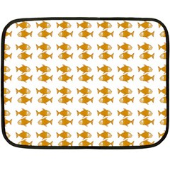 Small Fish Water Orange Fleece Blanket (mini)