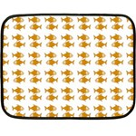 Small Fish Water Orange Fleece Blanket (Mini) 35 x27 Blanket