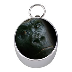 Gorilla Monkey Zoo Animal Mini Silver Compasses