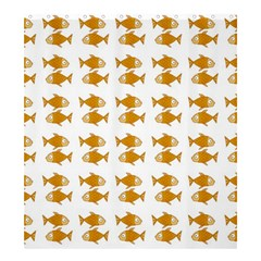 Small Fish Water Orange Shower Curtain 66  X 72  (large)