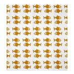 Small Fish Water Orange Shower Curtain 66  x 72  (Large)  58.75 x64.8  Curtain
