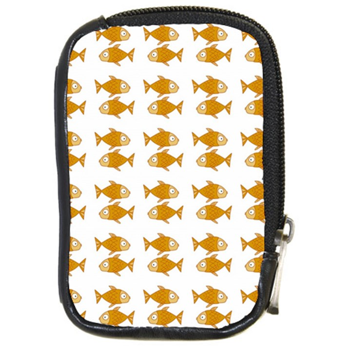 Small Fish Water Orange Compact Camera Leather Case