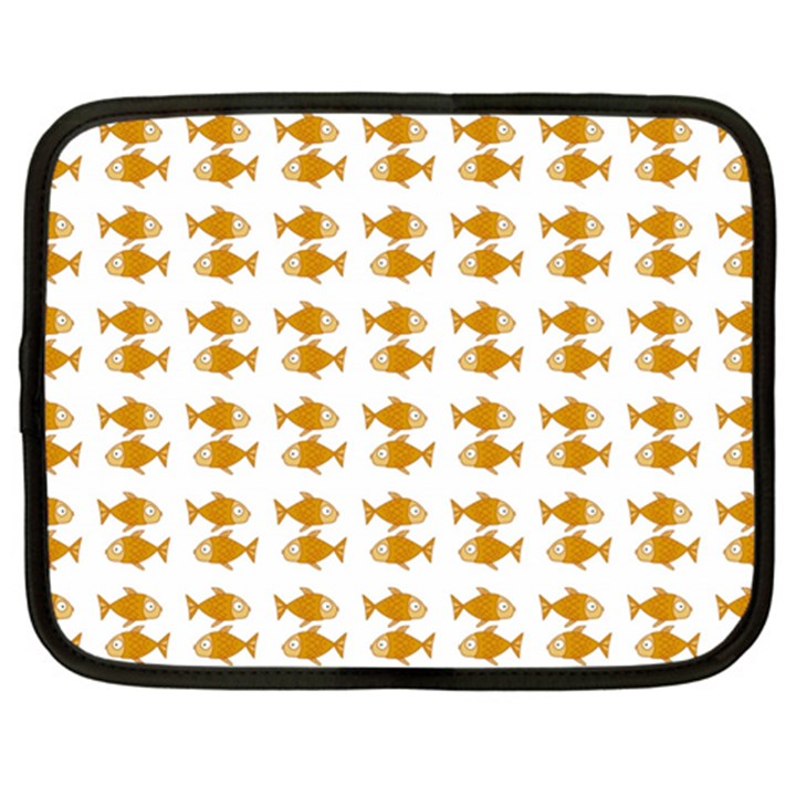 Small Fish Water Orange Netbook Case (XXL)