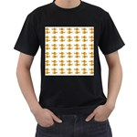 Small Fish Water Orange Men s T-Shirt (Black) Front