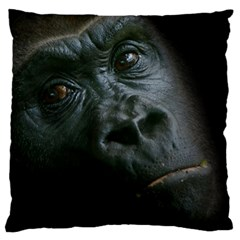 Gorilla Monkey Zoo Animal Large Flano Cushion Case (two Sides) by Nexatart