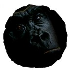 Gorilla Monkey Zoo Animal Large 18  Premium Flano Round Cushions Back