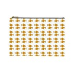 Small Fish Water Orange Cosmetic Bag (Large) Front