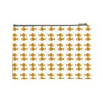 Small Fish Water Orange Cosmetic Bag (Large) Back