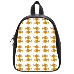 Small Fish Water Orange School Bag (small)