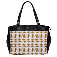 Small Fish Water Orange Oversize Office Handbag