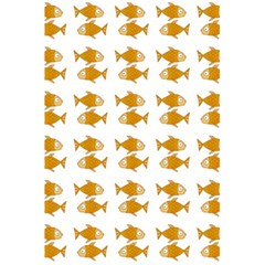 Small Fish Water Orange 5 5  X 8 5  Notebook