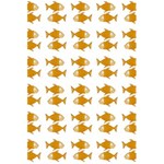 Small Fish Water Orange 5.5  x 8.5  Notebook Back Cover Inside