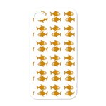 Small Fish Water Orange Apple iPhone 4 Case (White) Front