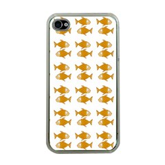 Small Fish Water Orange Apple Iphone 4 Case (clear)